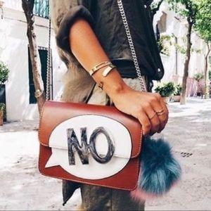 "Zara Like New ""No"" Crossbody Bag"